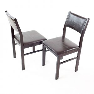 scaune modern wenge din lemn