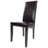 scaun bucatarie T500 din lemn wenge si de piele ecologica dark brown (1)