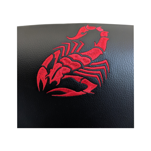 zendeco.ro/scaun birou B28 negru rosu