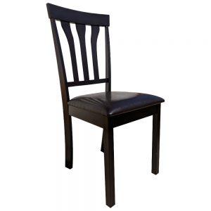 scaun de bucatarie Zen 121 din lemn wenge cappuccino/zendeco.ro