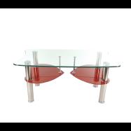 zendeco.ro-masa-cafea-S17-din-sticla-securizatarosu-si-transparent-cu-picioare-inox