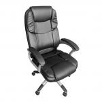 Scaun directorial Skay B21 Super Confort, negru, piele ecologica