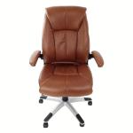 fauteuil de bureau maron vue de face