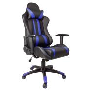 scaun gaming b24 negru albastru