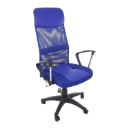 scaun birouB37,albastru,,baza plastic-zendeco.ro