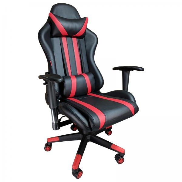 Scaun Gaming Arka B202 Luxor black red, piele ecologica/Zendeco.ro