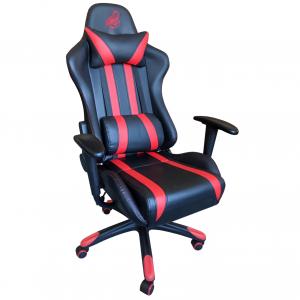 Scaun gaming B24,negru-rosu