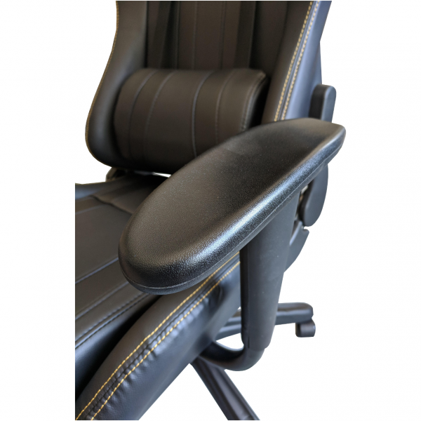 scaun -gaming-dragon- b24- negru-gold-perne-ajustabila/Zendeco.ro