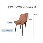 zendeco.ro/scaun de living Vintage D12 brown (1