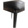 Scaun bucatarie Zen D22, negru, cu picioare din metal negru-zendeco.ro-emag