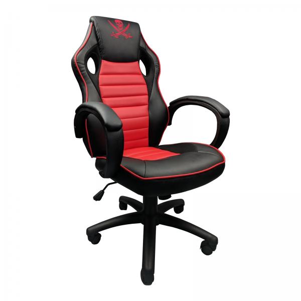 Scaun Gaming Zendeco Pirat B13 negru rosu/Zendeco.ro