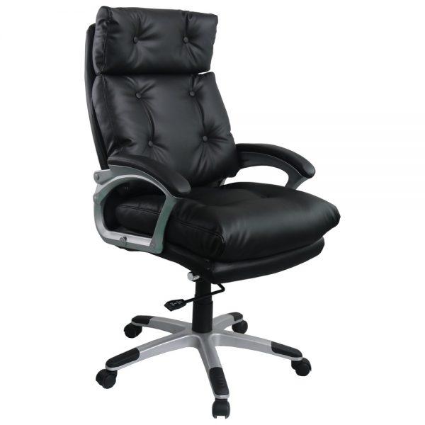 Scaun directorial Comodo B145, negru, confort extrem/Zendeco.ro