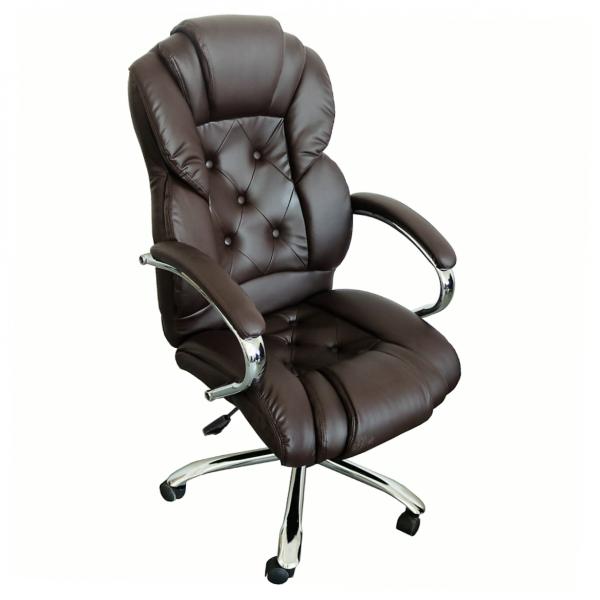 scaun directorial Comodo B108 maro cu baza metal/Zendeco.ro