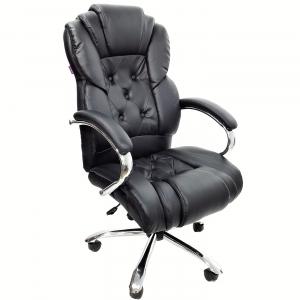 scaun directorial Skay B108 negru cu baza metal/Zendeco.ro