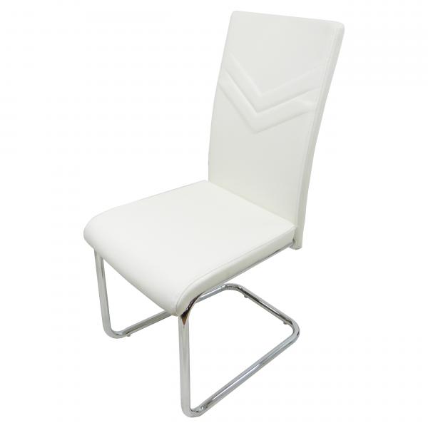 scaun bucatarie D15 alb/zendeco.ro