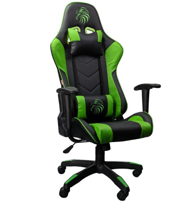 scaun gaming Arka Eagle B54 rosu negru-verde/zendeco.ro