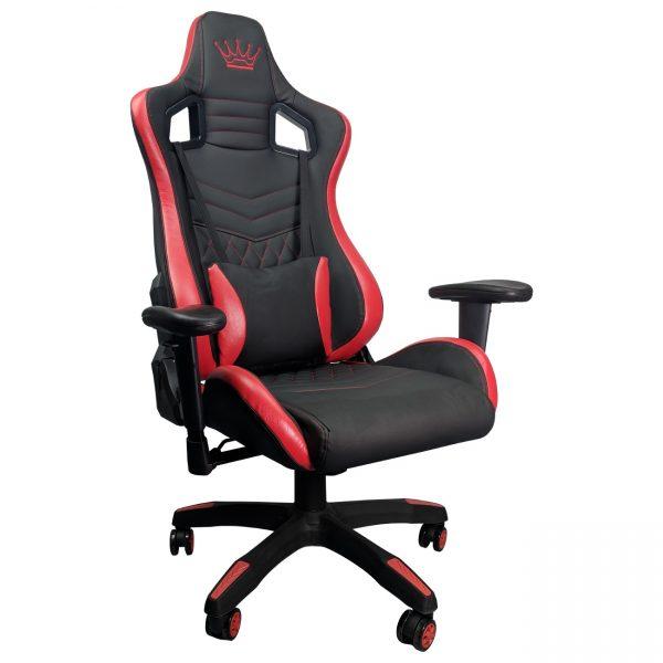 Scaun Gaming Arka Luxury B146B, negru/rosu/zendeco.ro