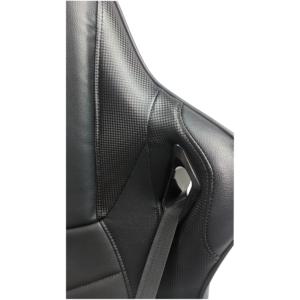 Scaun gaming Arka B147 Racing, negru, spatar reglabila piele ecologica