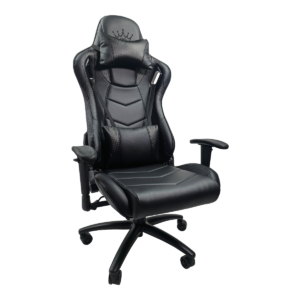Scaun gaming Arka Chairs B147 Racing, negru carbon, piele ecologica