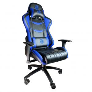 Scaun-Gaming-B151-Dragon-blue-piele-ecologica/Zendeco.ro