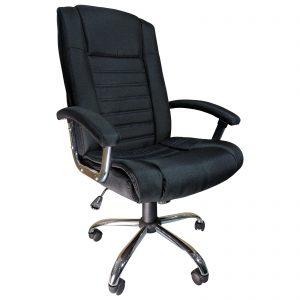 Scaun birou Arka B91, black textile cu baza cromata/zendeco.ro