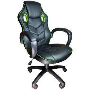 Scaun gaming Arka b19 verde, piele perforata anti transpiratie/zendeco.ro