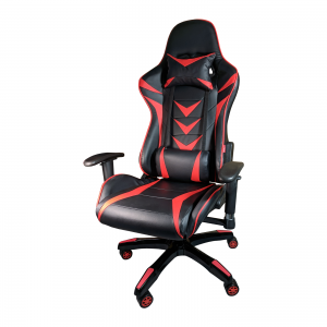 Scaune Gaming B208 Racing V6, negru si rosu, piele ecologica/Zendeco.ro