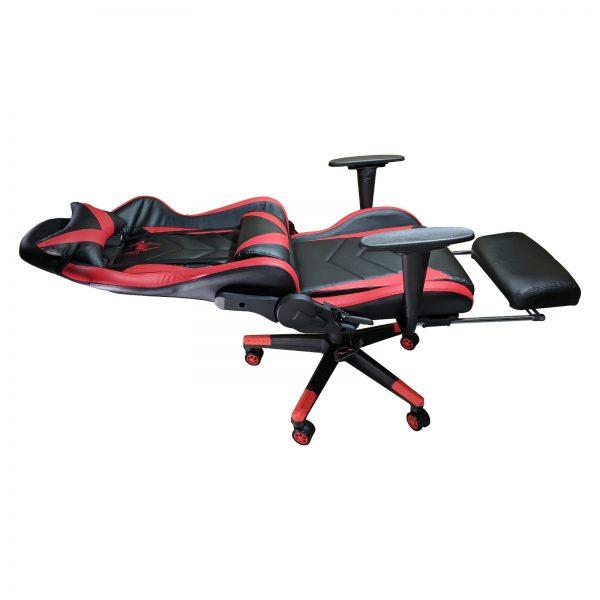Scaun Gaming B207 SPIDER black red cu suport picioare
