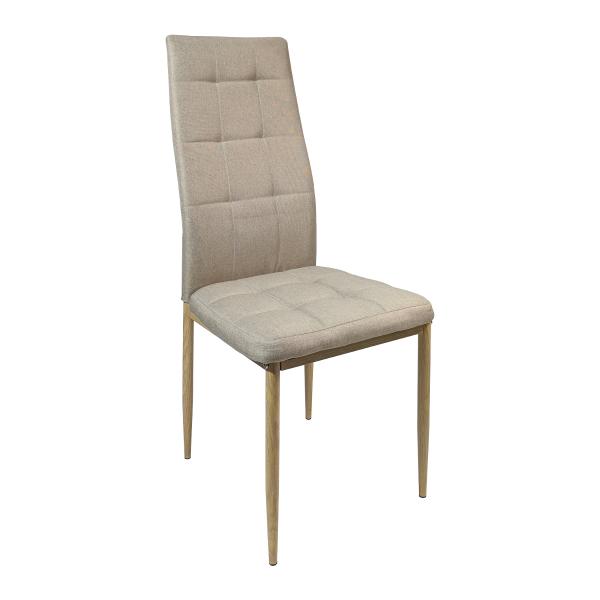 Scaun living Zen D22 maro textil cu picioare imitatie lemn, structura solida/Zendeco.ro