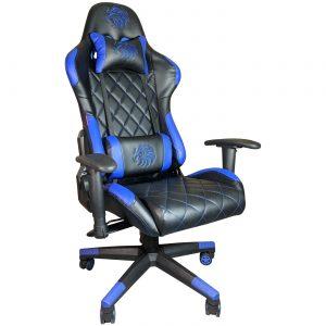 Scaun gaming Arka B56 Eagle Blue, piele perforata anti transpiratie ecologica/Zendeco.ro