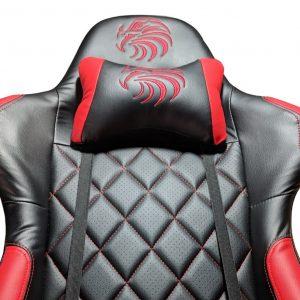 Scaun gaming Arka b56 Eagle, rosu, piele perforata anti transpiratie/Zendeco.ro