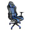 Scaun Gaming B201 Racing V5 black blue, piele ecologica/Zendeco.ro