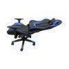 Scaun gaming Arka B206 Spider, black blue, piele ecologica/Zendeco.ro