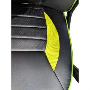 Scaun gaming Arka B101, piele antitranspiratie perforata, negru verde/Zendeco.ro