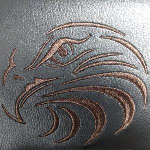 Zendeco.ro-scaun gaming Arka Eagle B54 black brown-piele ecologica/Zendeco.ro