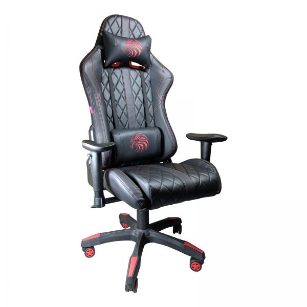 Scaun Gaming Arka B52 Eagle black, piele antitranspiratie perforata ecologica