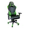 Scaun gaming Arka B56 Eagle, verde, piele anti transpiratie, perforata, ecologica/Zendeco.ro