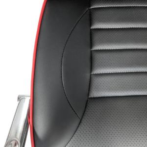 Scaun ergonomic Arka B18 black red, piele anti transpiratie perforata ecologica