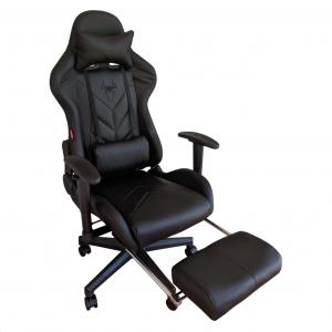 Scaun Gaming Arka B207 SPIDER black cu suport picioare/Zendeco.ro