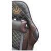 Scaun Gaming Arka Chairs B60 negru/maro, piele ecologica