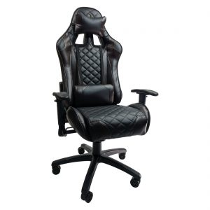 Zendeco.ro/Scaun gaming Arka Chairs B60 black brown, piele ecologica