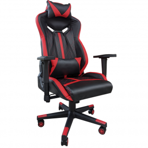 Scaun gaming Arka Chairs B58 black red, piele ecologica