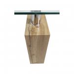 Zendeco.ro-Masa de cafea S72 maro antic 29 imitatie lemn, sticla tempered