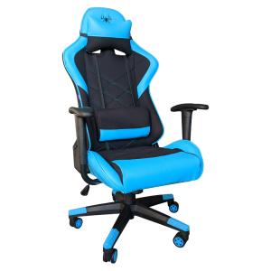 scaun gaming b2 negru albastru material textil