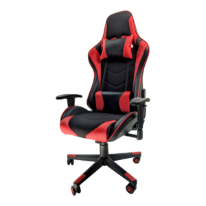 Scaun gaming B54 black red textil