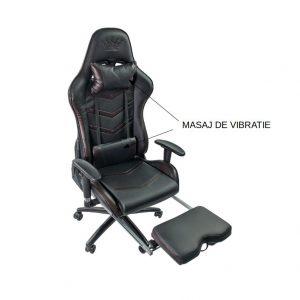 Scaun gaming Arka Chairs B61 cu suport picioare si fonctie masaj