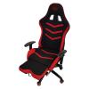 Scaun gaming Arka Line B61 black red textil cu suport picioare