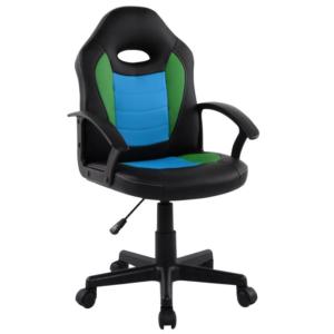 Scaun birou B11 black blue pentru copii