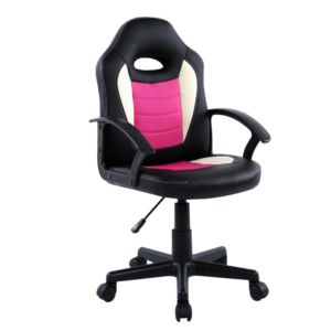 Scaun birou B11 roz alb pentru copii