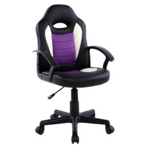 Scaun birou B11 violet negru pentru copii